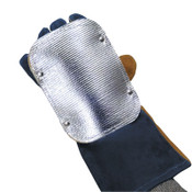 Best Welds Back Hand Pad, Double Layer, 7 in L, Elastic/High-Temp Kevlar Strap Closure, Silver, 1/EA, #BACKHAND2