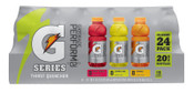 Gatorade 20 oz Wide Mouth, Lemon-Lime, Orange, Fruit Punch, Bottle, 24/CA, #20781