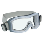 Bolle DUO Safety Goggles, AntiScratch/AntiFog, Clear Poly, Cloth Strap, Frosted Frame, 1/PR, #40097