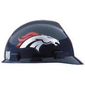 MSA Officially-Licensed NFL V-Gard Helmets, 1-Touch, Denver Broncos Logo, 1/EA, #818393