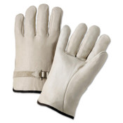 Anchor Products 4100 Series Quality Grain Cowhide Leather Driver Gloves, Cowhide, Medium, Unlined, Natural, 12/DOZ, #990LSM