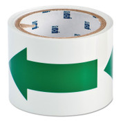 Brady Glow-In-The-Dark Arrow Tape, 3 in x 5 yd, Green/Phosphorescent, 1/ROL, #90974