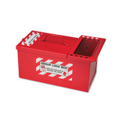 Brady METAL STORAGE LOCK BOX,SMALL,RED, 1/EA, #105716
