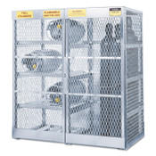 Justrite Aluminum Cylinder Lockers, Up to 8 Horizontal; and 10 Vertical Cylinders, 1/EA, #23008