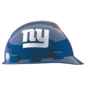 MSA Officially-Licensed NFL V-Gard Helmets, 1-Touch, New York Giants Logo, 1/EA, #818403