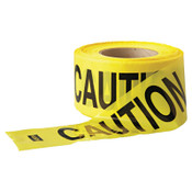 Anchor Products Economy Barrier Tape, 3 in x 1,000 ft, Yellow, Caution, 1/EA, #PT100