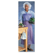 Ansell CPP Vinyl Aprons, 6 mil, 33 in X 54 in, Blue, 12/DZ, #105187