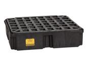 "Eagle Mfg Drum Modular Spill Platforms w/o Drain, Black, 2,000 lbs, 15 gal, 26 1/4"" x 26"", 1/EA, #1633B"