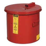 Justrite Dip Tanks, Hazardous Liquid Cleaning Tank, 5 gal, Red, 1/EA, #27605