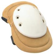 Allegro Welding Knee Pads, Elastic Strap; Quick-Release Buckle, Tan; White, 1/PR, #699101Q