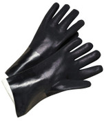 Anchor Products 14 in Long PVC-Coated Jersey-Lined Gloves, Black, 12 Pair, #J1047RF