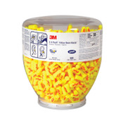 3M E-A-Rsoft Yellow Neon Blasts One Touch Dispenser Refill 391-1010, Regular Size, Polyurethane, Uncorded, Clear Bottle, 500/BO, #7000052750
