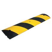 Cortina Rubber Speed Bump, 48 in Long, Black/Yellow, 1/EA, #2054SB
