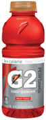 Gatorade G2 20 Oz. Wide Mouth, Fruit Punch, Bottle, 24/CA, #20405