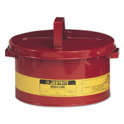 Justrite Bench Cans, Hazardous Liquid Cleaning Can, 3 gal, Red, 1/CAN, #10775