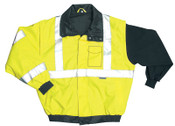 OccuNomix Bomber Jackets, Medium, Yellow, 1/EA, #LUXTJBJYM
