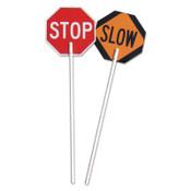 TrafFix Devices, Inc. Stop/Slow Paddles, 5 ft Plastic Nonreflective Handle, 1/EA, #18024SSNS5