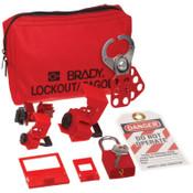 Brady Breaker Lockouts, Red, 1/KT, #105967
