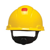 3M Uvicator Ratchet Hard Hats, 4 Point, Yellow, 20/CA, #7000128173