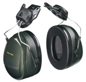 3M Optime 101 Earmuffs, 24 dB NRR, Dark Green, Cap Attached, 1/EA, #7000009668