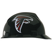 MSA Officially-Licensed NFL V-Gard Helmets, 1-Touch, Atlanta Falcons Logo, 1/EA, #818385