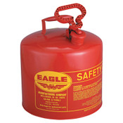 Eagle Mfg Type l Safety Cans, Gas, 5 gal, Red, 1/CN, #UI50S