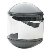 Honeywell Dual Crown Faceshield Systems, 7 in Crown, 3C Ratchet, Clear/Noryl, 1/EA, #FM500DCCL