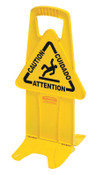 Newell Rubbermaid™ Floor Stable Safety Signs, Caution (Multi-Lingual), Yellow, 1/EA, #9S0925YEL
