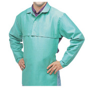 Best Welds Cotton Sateen Cape Sleeves, 14 in Long, Hook/Loop Closure, Large, Visual Green, 1/EA, #CA650L