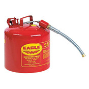 Eagle Mfg Type ll Safety Cans, Flammable Storage Can, 2 gal, Red, 7/8 in. Flex Metal Spout, 1/CAN, #U226S