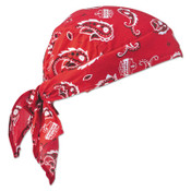 Ergodyne Chill-Its 6710CT Evaporative Cooling Triangle Hats w/ Cooling Towel, Red Western, 6/CA, #12583