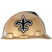 MSA Officially-Licensed NFL V-Gard Helmets, 1-Touch, New Orleans Saints Logo, 1/EA, #818402