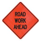 Cortina Road Work Ahead Signs, Road Work Ahead, Orange, 1/EA, #078003037L