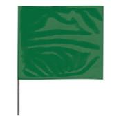 Presco Stake Flags, 2 in x 3 in, 18 in Height, Green, 1000/BOX, #2318G