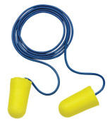 3M E-A-R TaperFit 2 Foam Earplugs 312-1223, Polyurethane, Yellow, Corded, Regular, 200/BX, #7000002312