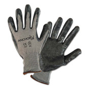 Anchor Products Nitrile Coated Glove, Medium, Black/Gray, 12 Pair, #6020M