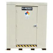 Justrite 4-Hour Fire-Rated Outdoor Safety Locker, Explosion Relief, (6) 55-gallon drums, 1/EA, #913061