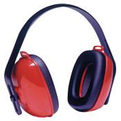 Honeywell QM24+ Earmuffs, 25 dB NRR, Red, Over the Head, 1/EA, #QM24PLUS
