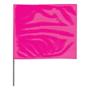 Presco Stake Flags, 2 in x 3 in, 24 in Height, Pink Glo, 1000/BOX, #2324PG