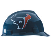 MSA Officially-Licensed NFL V-Gard Helmets, 1-Touch, Houston Texans Logo, 1/EA, #10031348
