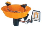 Guardian Wall Mounted Eye/Face Washes, 11 1/2 in, Safety Orange, 2 Head, 1/EA, #G1750P