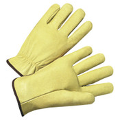 Anchor Products 4900 Series Standard Grain Pigskin Driver Gloves, X-Large, Unlined, Tan, 12/DOZ, #994XL