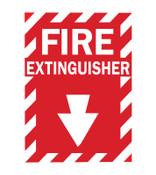 Brady Health & Safety Signs, FIRE EXTINGUISHER, Fiberglass, 1/EA, #75447369074