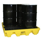 Eagle Mfg Spill Containment Pallets, Yellow, 8,000 lbs, 66 gal, 51 1/2 in x 51 1/2 in, 1/EA, #1645