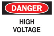 Brady Health & Safety Signs, Danger - High Voltage, 7X10 Fiberglass, 1/EA, #71565