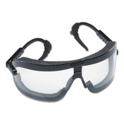 3M Fectoggles Impact Goggles, Large, Clear/Black, Adjustable Temples, 10/CA, #7010045743