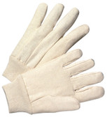 Anchor Products 1000 Series Canvas Gloves, Large, White, Knit-Wrist Cuff, 12/DZ, #708