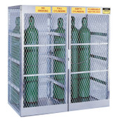 Justrite Aluminum Cylinder Lockers, Up to 20 Gas Cylinders, 1/EA, #23007