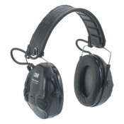 3M Peltor Tactical Sport Electronic Headsets, 20 dB NRR, Black, Over the Head, 1/EA, #7000108437
