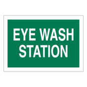 BRADY Eye Wash Station Signs, White on Green, 1/EA, #72722